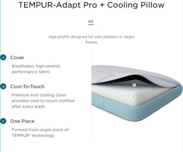 Tempur Adapt Pro Cooling Pillow HI