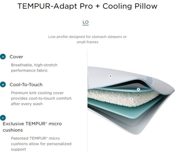 Tempur Adapt Pro Cooling Pillow LO