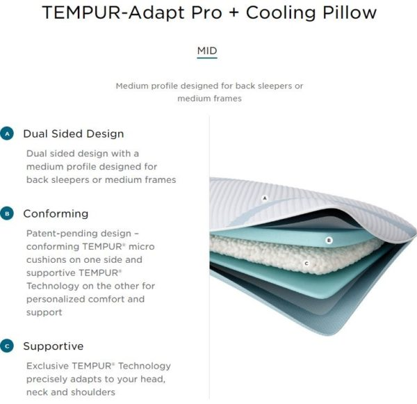 Tempur Adapt Pro Cooling Pillow MID
