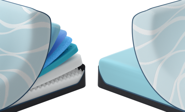 Tempurpedic Luxe Breeze Mattress cutaways