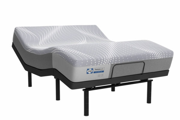 Sealy Calabasas Hybrid Posturepedic Mattress on Adjustable Base ThreeQtr