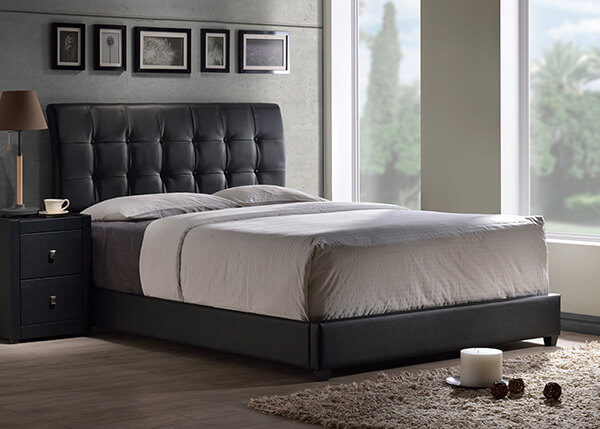 Hillsdale Lusso Bed Black Faux Leather