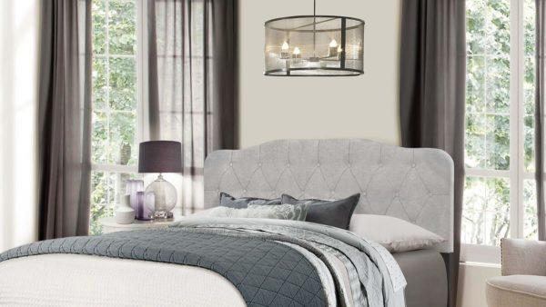 Hillsdale Nicole Bed Headboard Detail Glacier Grey