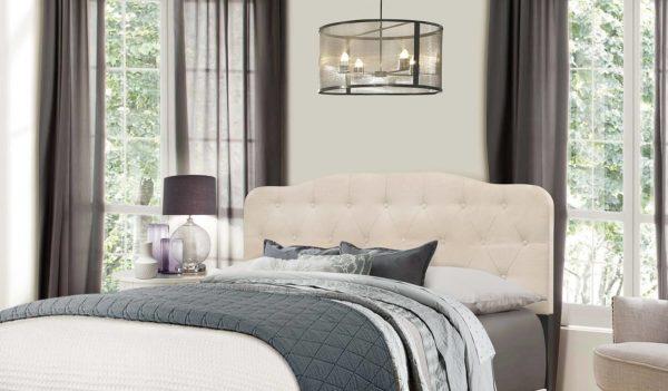 Hillsdale Nicole Headboard Bed Detail Linen
