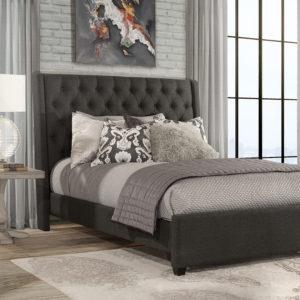 Churchill Bed Onyx Linen