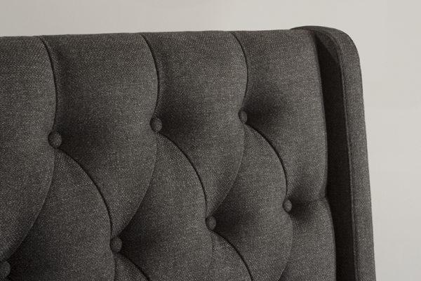Churchill Headboard Onyx Linen Fabric
