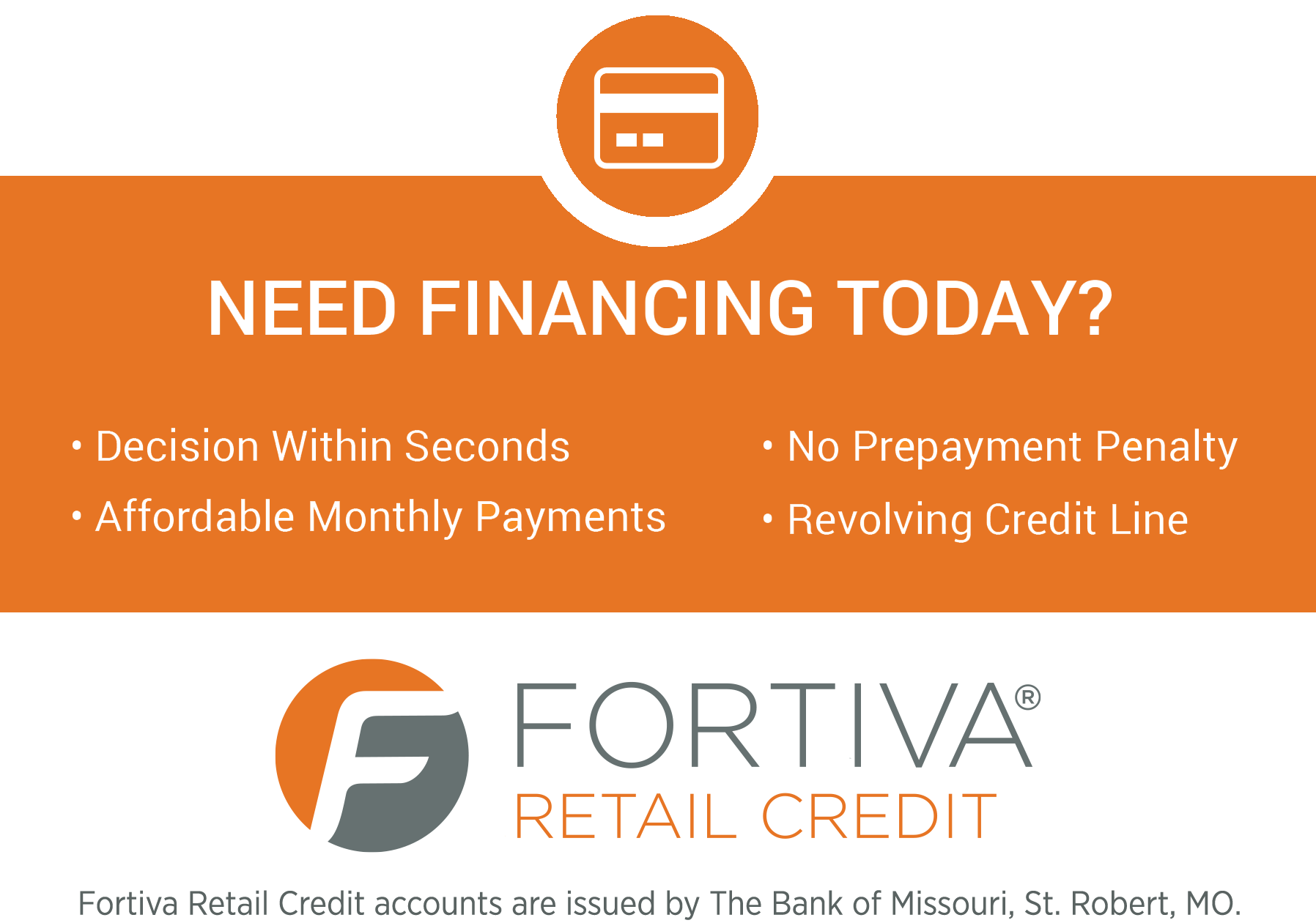 Fortiva Retail Credit Card Financing banner2
